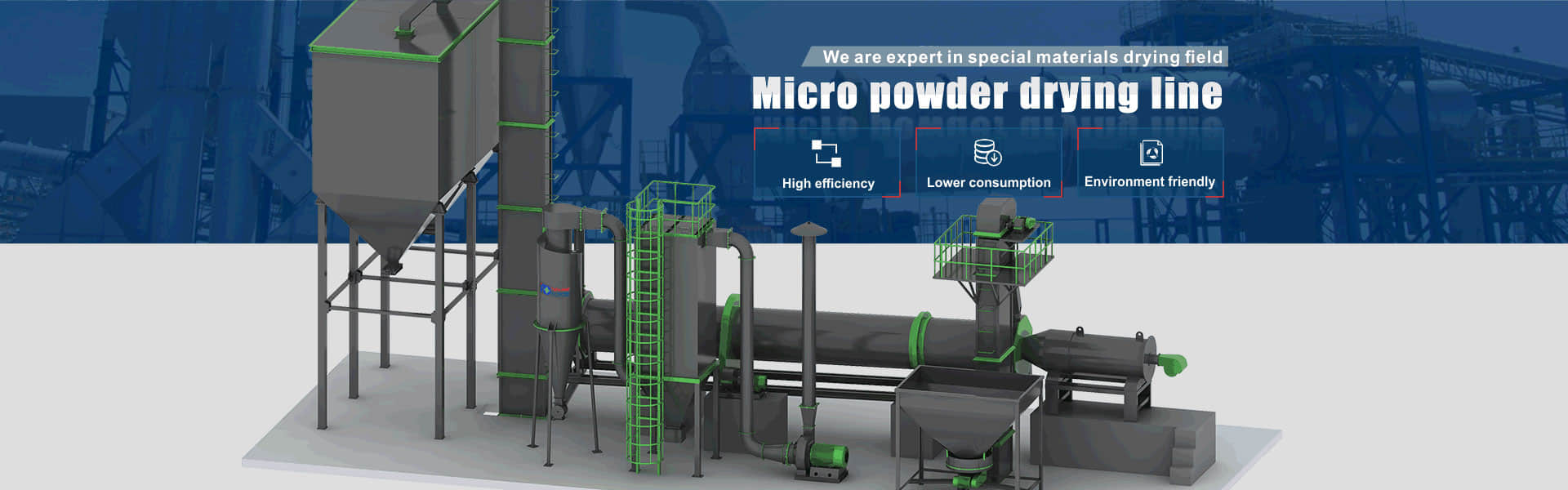 micro powder drying line