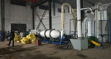 Bean Pulp Drying System Installed
