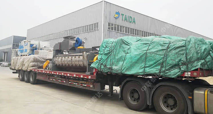 OSC-AST Air Swept Rotary Drum Dryer Transported to