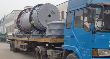 0.5T Capacity Gypsum Batch Drum Dryer Running Smoothly in Indonesi